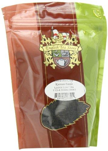 (English Tea Store Loose Leaf, Keemun Panda China Black Tea Pouches, 4 Ounce)