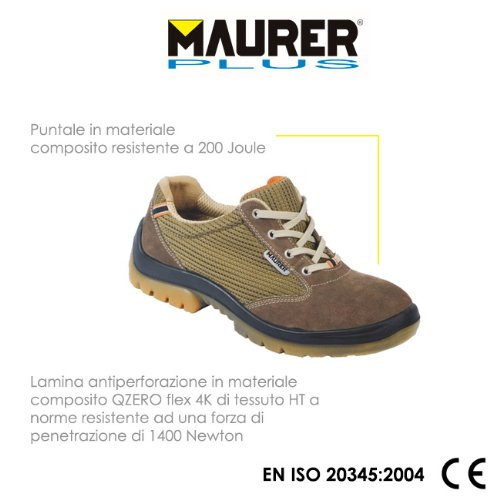 prevention des accidents de chaussures en daim tambourinait # 41 AURELIA S1-P