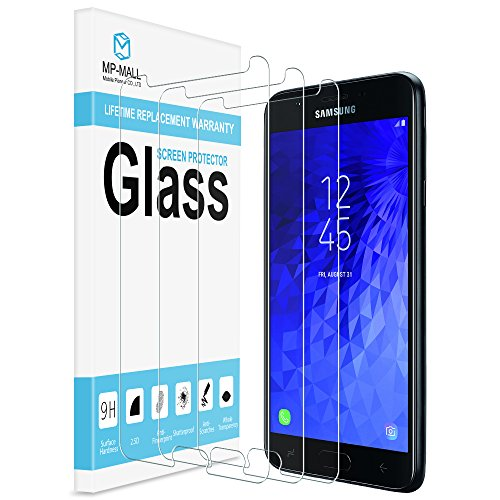 [3-PACK] MP-MALL For Samsung Galaxy J7 V J7 V 2nd Gen/Generation Screen Protector, [Tempered Glass] with Lifetime Replacement Warranty