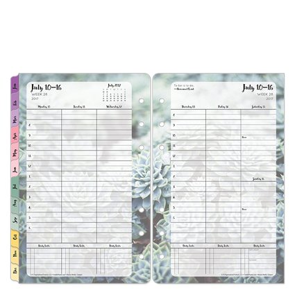 Compact Blooms Weekly Ring-bound Planner - Jul 2017 - Jun 2018