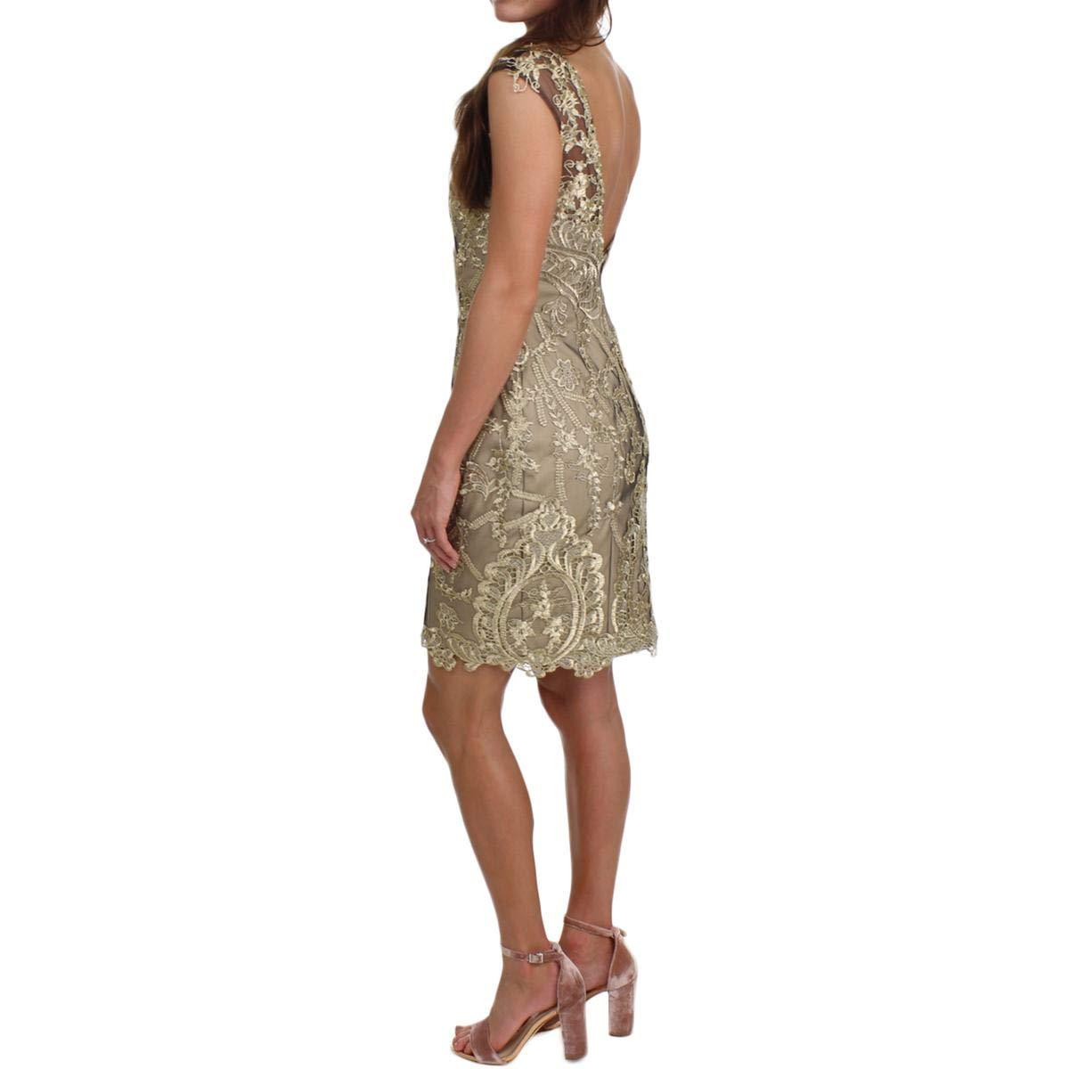 JVN by Jovani Womens Lace Sleeveless Semi-Formal Dress at Amazon Women s  Clothing store  4097efc55