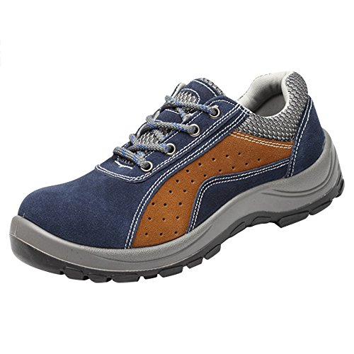 Shoes Men's Steel Safety Toe Comp Brown Optimal Shoes Work Blue Shoes wI4BAUq