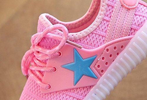 negro Zapatos Edad Pequeños Rosa De Transpirables Malla Zapatillas 1 Niños Huateng Años 6 Para Deporte z4dHqOfzxw