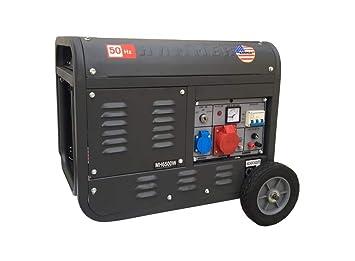 Grupo electrógeno/Generador de corriente 3100 W - 220/380 V arranque eléctrico con llave y mando a distancia carrelado - Hammer: Amazon.es: Bricolaje y ...