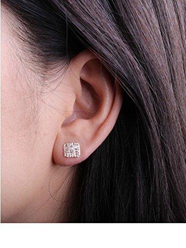Sterling Silver Bird's Nest Square Celtic Knot Post Stud Earrings
