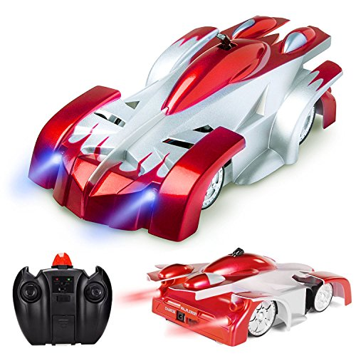 Climber Wall (GuangTouL Wall Climbing Remote Control Car,Children's Wireless RC Car toys for Birthday Present with Mini Control Dual Mode 360° Rotating Stunt Car LED Head Gravity Defying Toy Vehicle)
