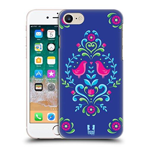 Head Case Designs Royal Blue Norwegian Rosemåling Hard Back Case for Apple iPhone 7 / iPhone - Rosemaling Design