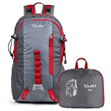 TOURIT Light Travel Hiking Backpack Packable Foldable Daypack Waterproof Back Packs for Hiking, Large Capacity 35L for Men Women Boys Girls to Picnics, Gym, Outdoor, Hiking