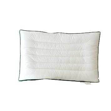 Algodón Suave ConParame Estándar Almohadas,Ultra delgado Bajo Almohada de fibra Para dormir Almohadas cervicales Para Dolor de hombro y cuello Estudiante ...