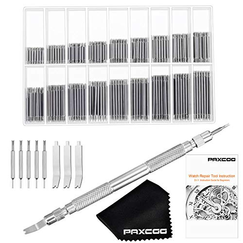 Paxcoo Watch Band Tool - Watch Link Removal Tool and Watch Band Pins for Watch Strap Repair and Watch Spring Bar Remover