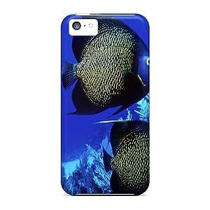 Fashion Tpu Case For Iphone 5c- Pretty Fish Defender Case Cover