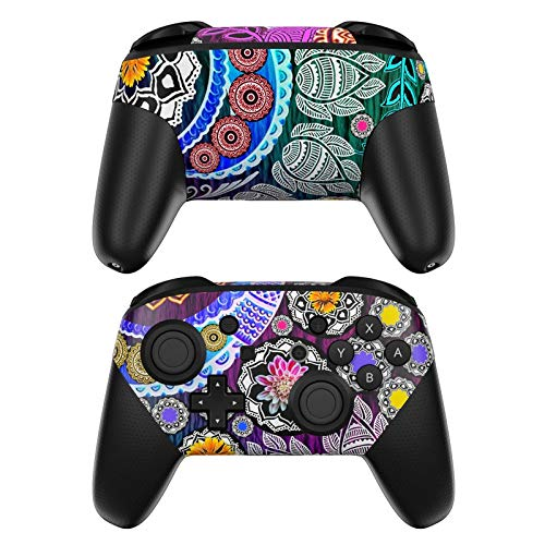 Plate Garden Collector - Mehndi Garden Decalgirl Skin Sticker Wrap Compatible with Nintendo Switch Pro Controller