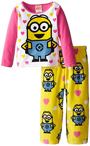 Despicable Me Little Girls' Cozy Fleece Pajama Set, Multi, 4T