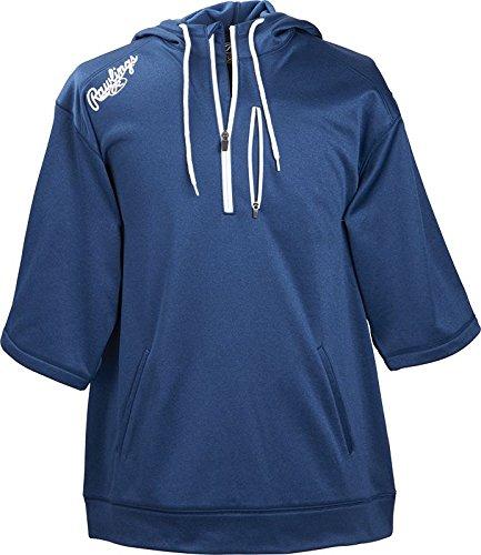 Rawlings Men's Short Sleeve Hoodie, Navy, XX-Large