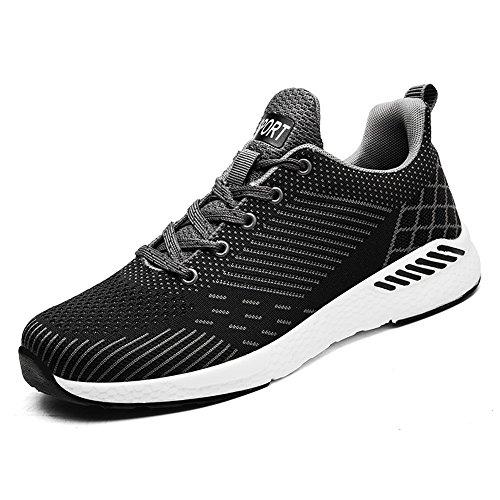 Uomo da Paio da Un Sneakers Flying Athletic Tessuto di Sneaker Mesh Summer Casual Nero Cricket da Style Scarpe e Traspirante Donna Running qgA6E6Sw