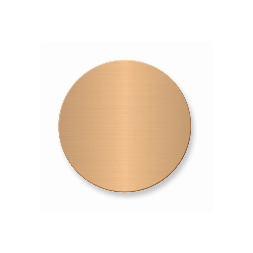 1 3/4 x 1 3/4 Round Copper Alum Plates-Sets of 6