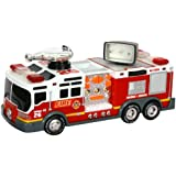 """Toy State 14"""" Rush And Rescue Police And Fire - Pumper Fire Truck"""