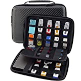 #3: WELLGAIN USB Flash Drive Case, Hard Drive Case EVA Waterproof Shockproof Bag/Electronic Cable Accessories Organizer, by Black