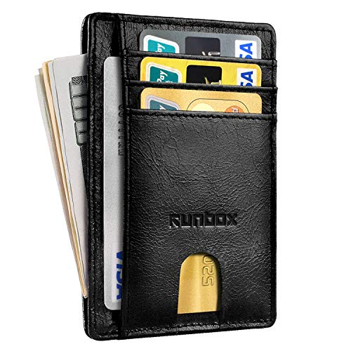 - Minimalist Slim Front Pocket Wallets for Men with RFID Blocking & Genuine Leather