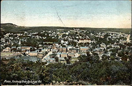 Hill Rollstone (View From Rollstone Hill Fitchburg, Massachusetts Original Vintage Postcard)