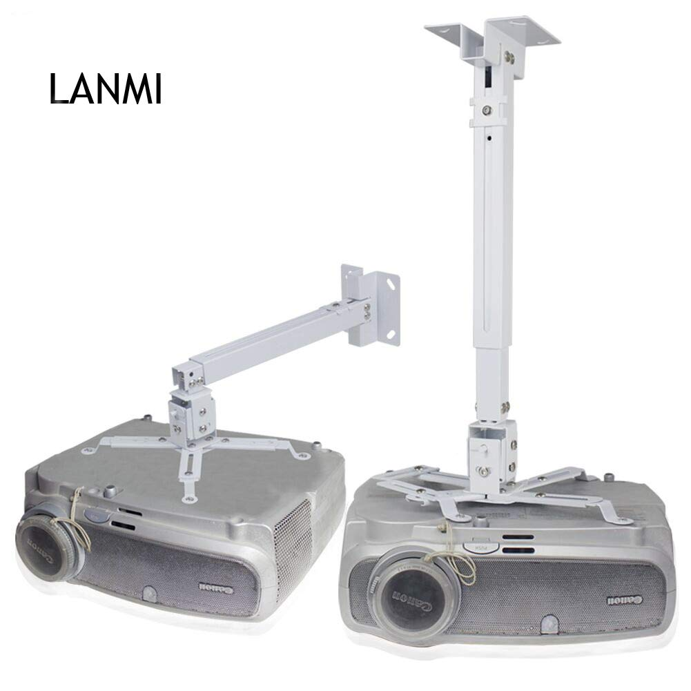 Universal Projector Ceiling Mount,LANMI Adjustable Mount,Length can be Adjusted,17''-25.56'',for LCD/DLP Ceiling Projector Epson Optoma Benq ViewSonic(4365)