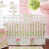My Baby Sam 4 Piece Pixie Baby Crib Bedding Set, Pink
