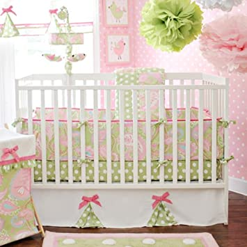 Amazoncom My Baby Sam 4 Piece Pixie Baby Crib Bedding Set Pink