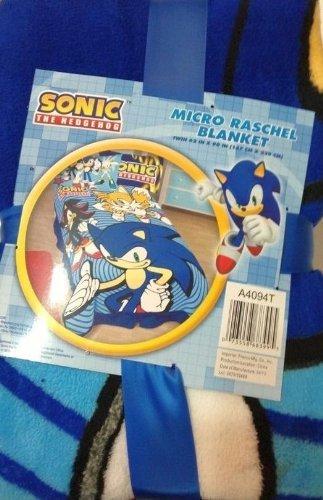 Sega Sonic the Hedgehog Micro Raschel Blanket, Twin