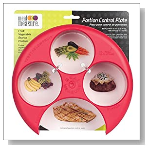 EZY DOSE 1 Tool Meal Measure Tray Portion Control, Red