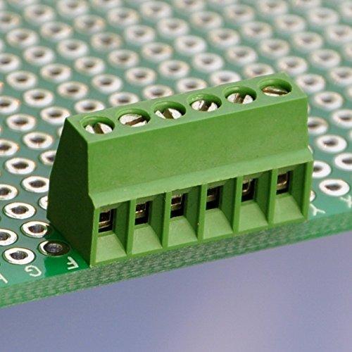 Electronics-Salon 10 PCS 6 Poles 2.54mm/0.1' PCB Universal Screw Terminal Block.