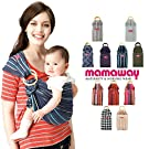 Mamaway Baby Sling Carrier (Ring Sling) - One Size Fits All - Easy On Your Back - Comfort For Your Baby - Can Be Used For Different Positions - Breastfeeding Privacy - Ocean Lanna