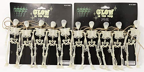 Glow in the dark Skeleton garland. Decorate your