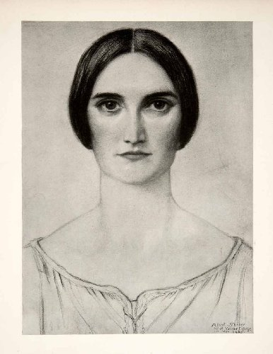 1927-print-marvin-breckinridge-drawing-woman-albert-sterner-art-painter-etcher-original-halftone-pri