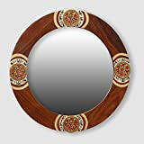 ExclusiveLane Round Ethnic Wall Mirror With Warli & Dhokra Art