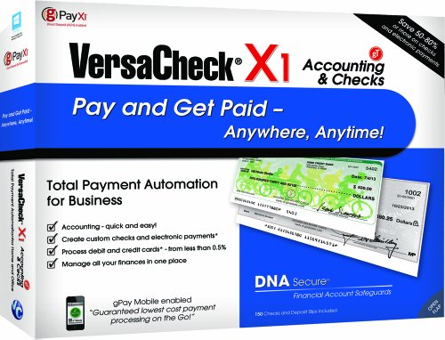 VersaCheck X1 Accounting and Checks gT, 5-User by VersaCheck