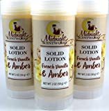 French Vanilla and Amber Solid Lotion - Vegan