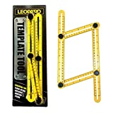 Template Tool, Multi-Angle Ruler for Accurate Measurement Time Saving, Hanging Tile Laying Floors Cutting Stones Woods Usable for Handymen | Builders | Craftsmen by Leopard Tool