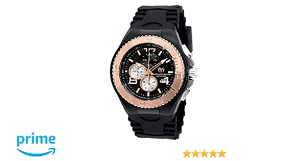 Amazon.com: Technomarine Mens Cruise JellyFish Quartz Stainless Steel and Silicone Casual Watch, Color:Black (Model: TM-115150): Watches