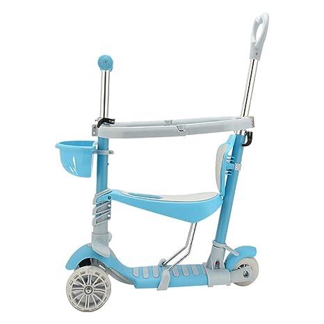 Scooter Desmontable Para Niños Pequeños, 3 Ruedas Mini Kick ...