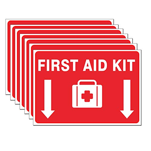 Set of 6 First Aid Kit Sign Sticker Label 7