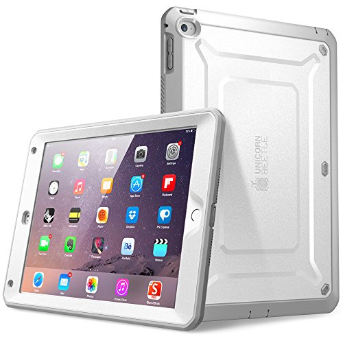 iPad Air 2 Case, SUPCASE [Heavy Duty] Apple iPad Air 2 Case [2nd Generation] 2014 Release [Unicorn Beetle PRO Series] Full-body Rugged Hybrid Protective Case with Built-in Screen Protector (White)