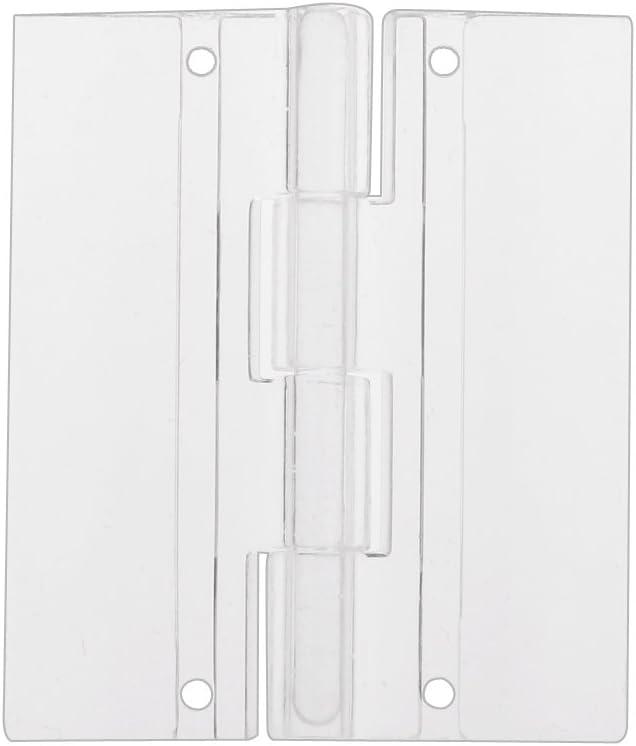 10pcs 45x38mm Bisagras de Plástico Acrílico Transparente de Plexiglás Puerta Plegable para Piano