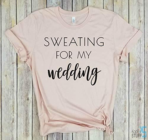 93d321f3 Sweating for My Wedding, Married AF Shirt, Married AF bridal Shirt, Newlywed  Shirt, Honeymoon tshirt, Wifey shirt, wedding gift, bridal gift, funny  wedding ...