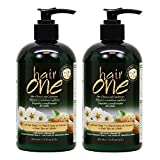Hair One Hair Cleanser and Conditioner for All Hair Types with Sweet Almond Oil 355ml / 12oz 'Pack of 2'