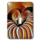 3D Rose lsp_128358_1 Touched by Africa African Themed Art of a Man Woman Kissing in Love Wall Light Switches