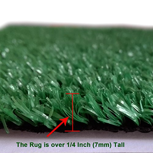 Synturfmats Green Artificial Grass Carpet Rug - Indoor/Outdoor ...