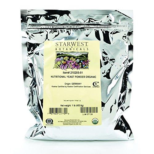 Starwest Botanicals Organic Nutritional Yeast Powder, 1 Pound by Starwest Botanicals