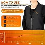 Gilet Chauffant Homme et Femmes Chargement USB Hiver Vêtement Chauffant Lavable Chauds Gilet Chauffé pour Activités de… 8