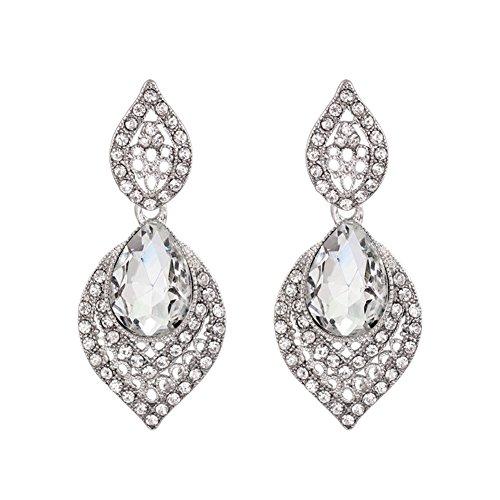 ER-06186C1 Fashion Pear Crystal Women Earring