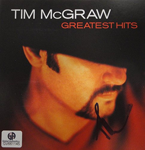 - Tim McGraw Hand Signed Autographed CD Cover Greatest Hits GA GV 661145